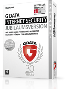Boxshot G DATA INTERNET SECURITY Jubiläumsversion