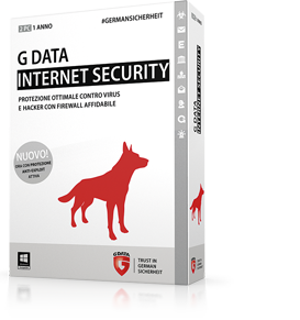 Boxshot G DATA INTERNET SECURITY - La protezione completa contro hacker e virus con potente firewall