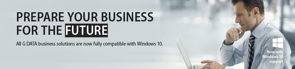 G DATA Business Solutions now with Windows 10 support